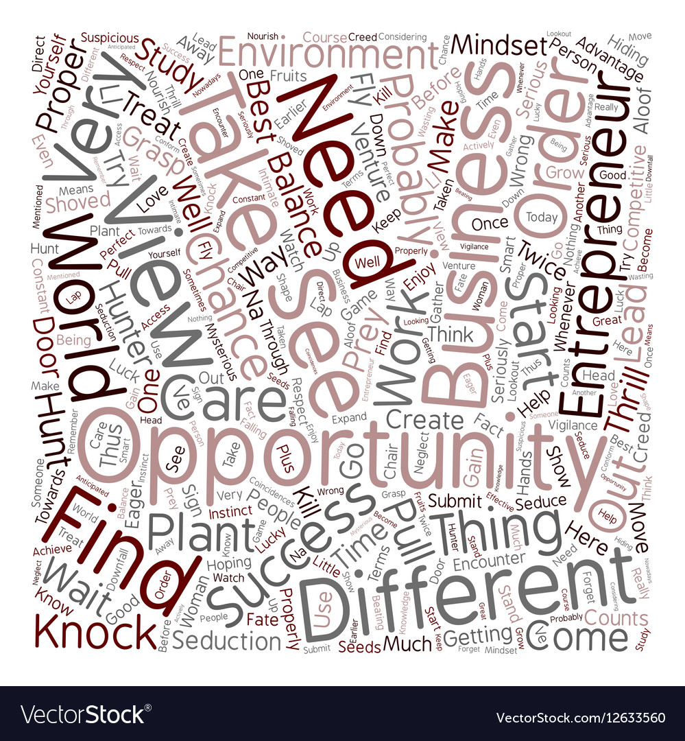 Entrepreneur business opportunity 1 text vector image