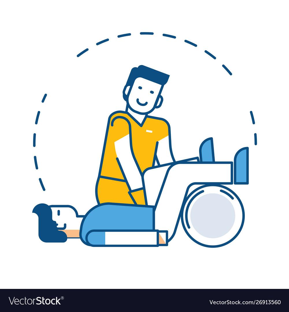 Injury rehabilitation treatment or physiotherapy