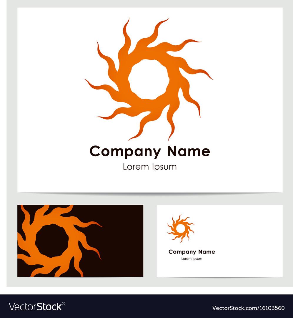 Logo design business card template