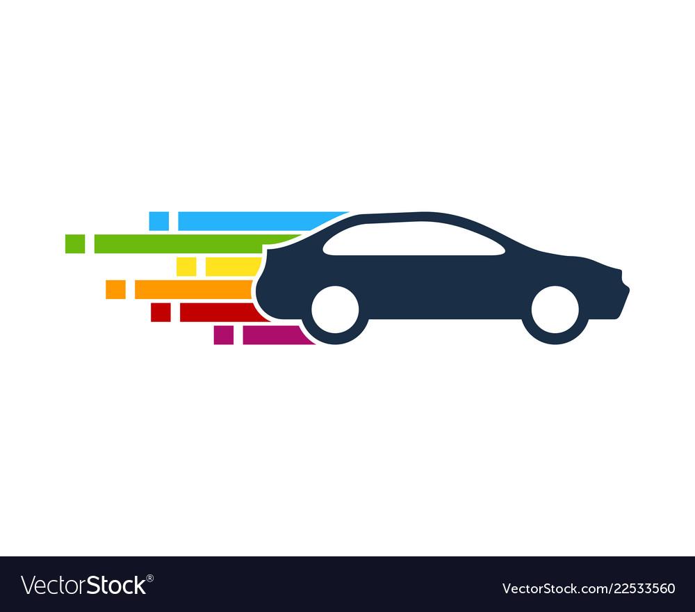 Pixel art automotive logo icon design