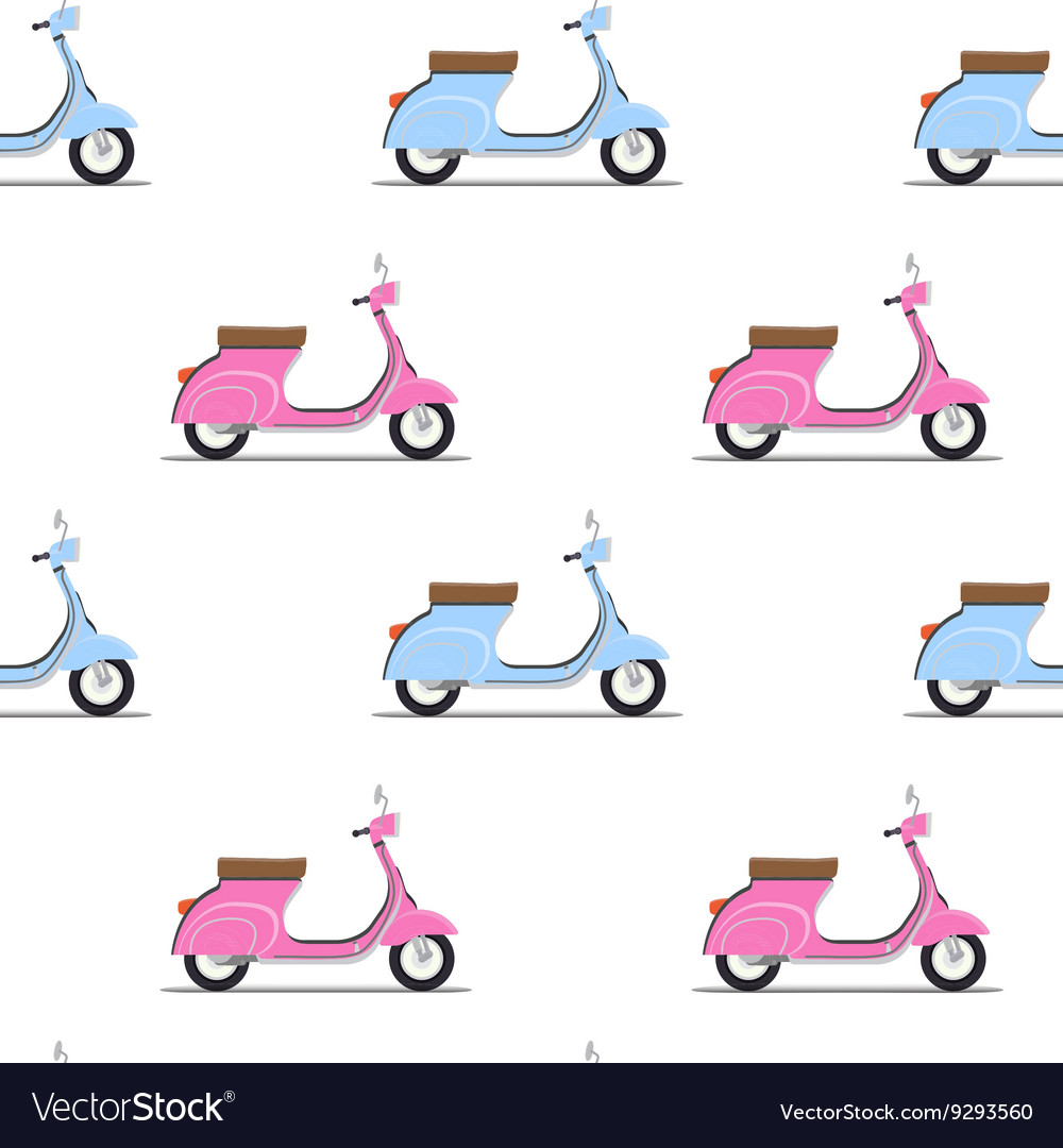 Seamless pattern of the classic pink and blue