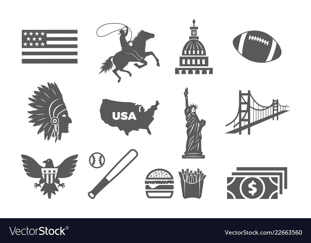 Usa icon set