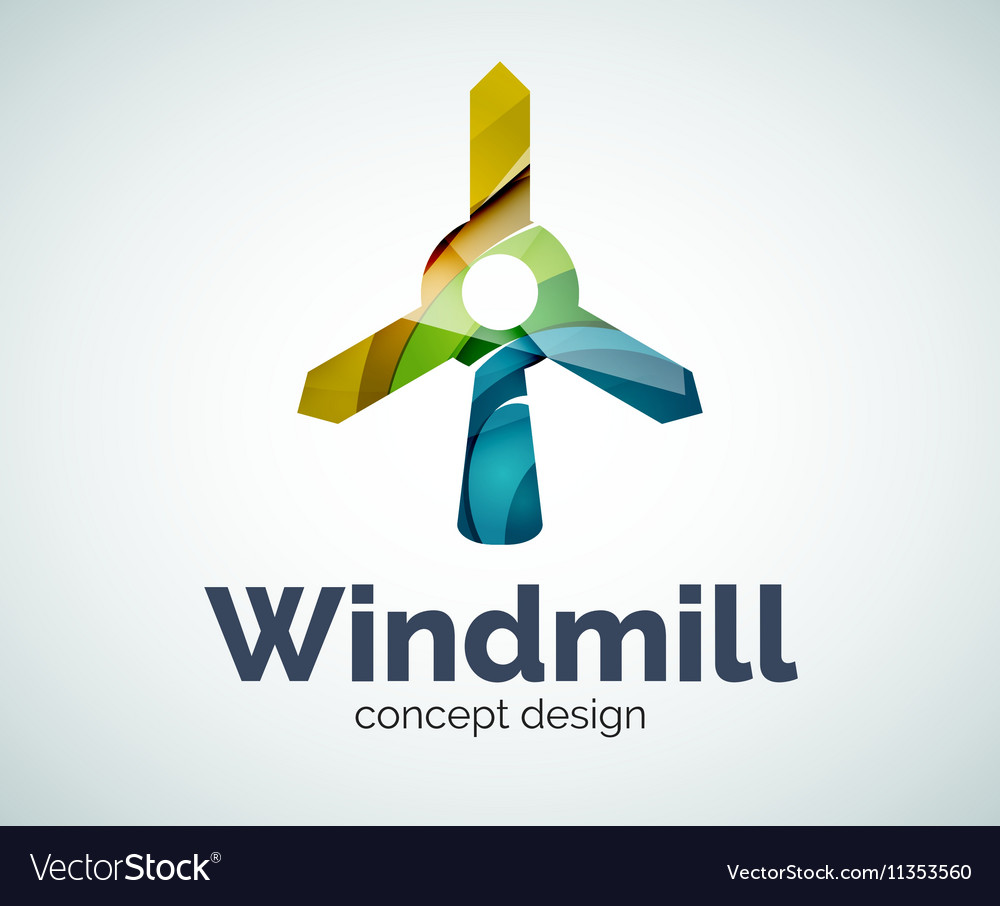 windmill logo template royalty free vector image