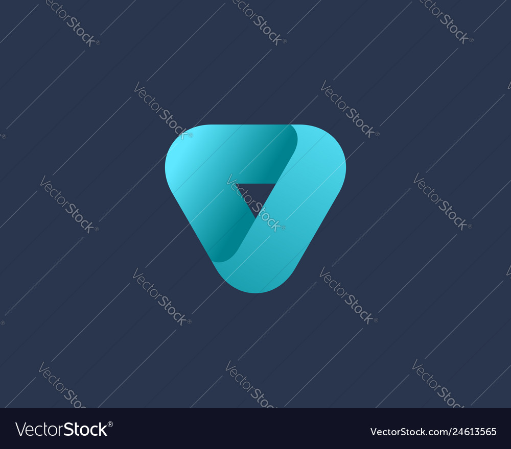 Abstract business logo icon design with letter o