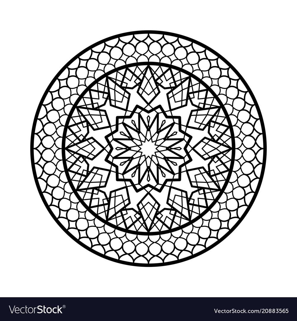 Arabic circle frame traditional islamic design
