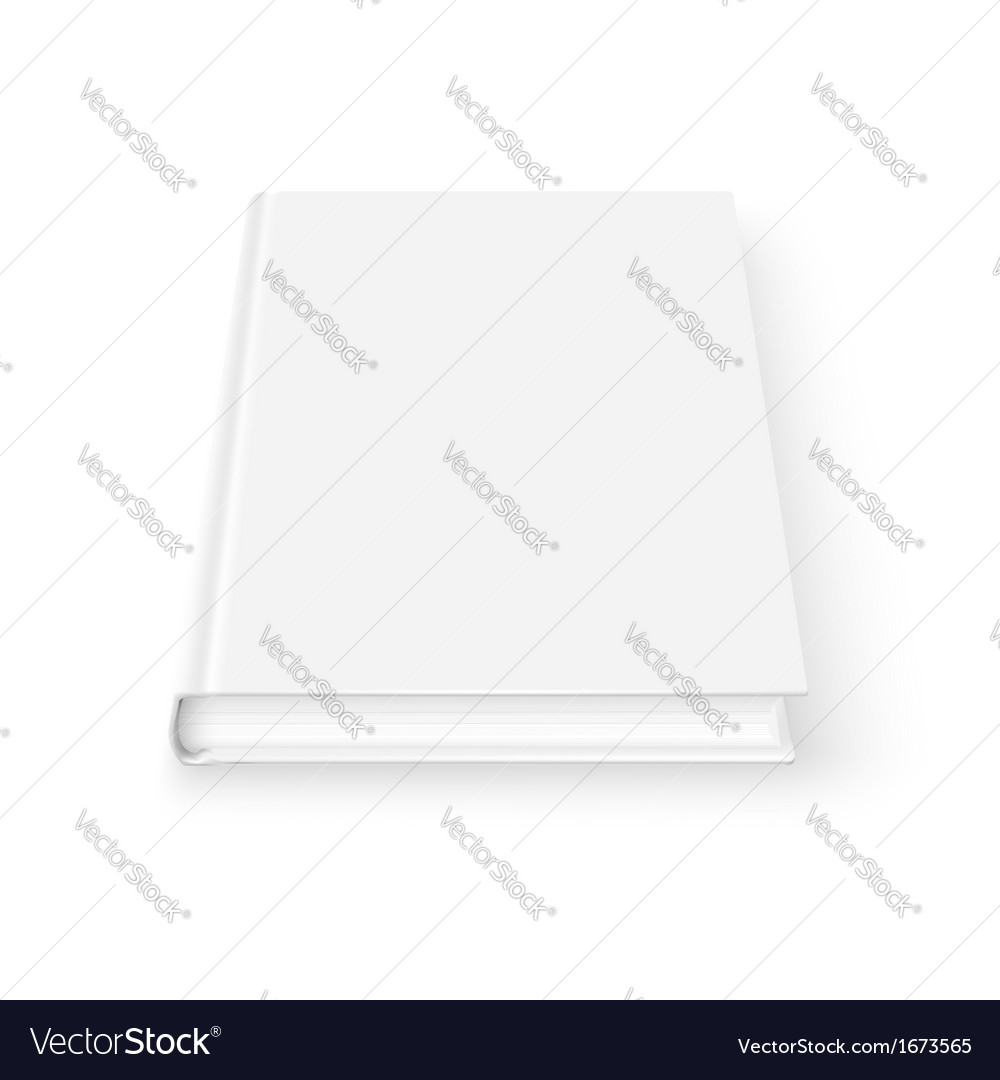Blank book template vector image