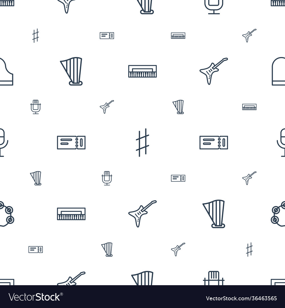 Concert icons pattern seamless white background