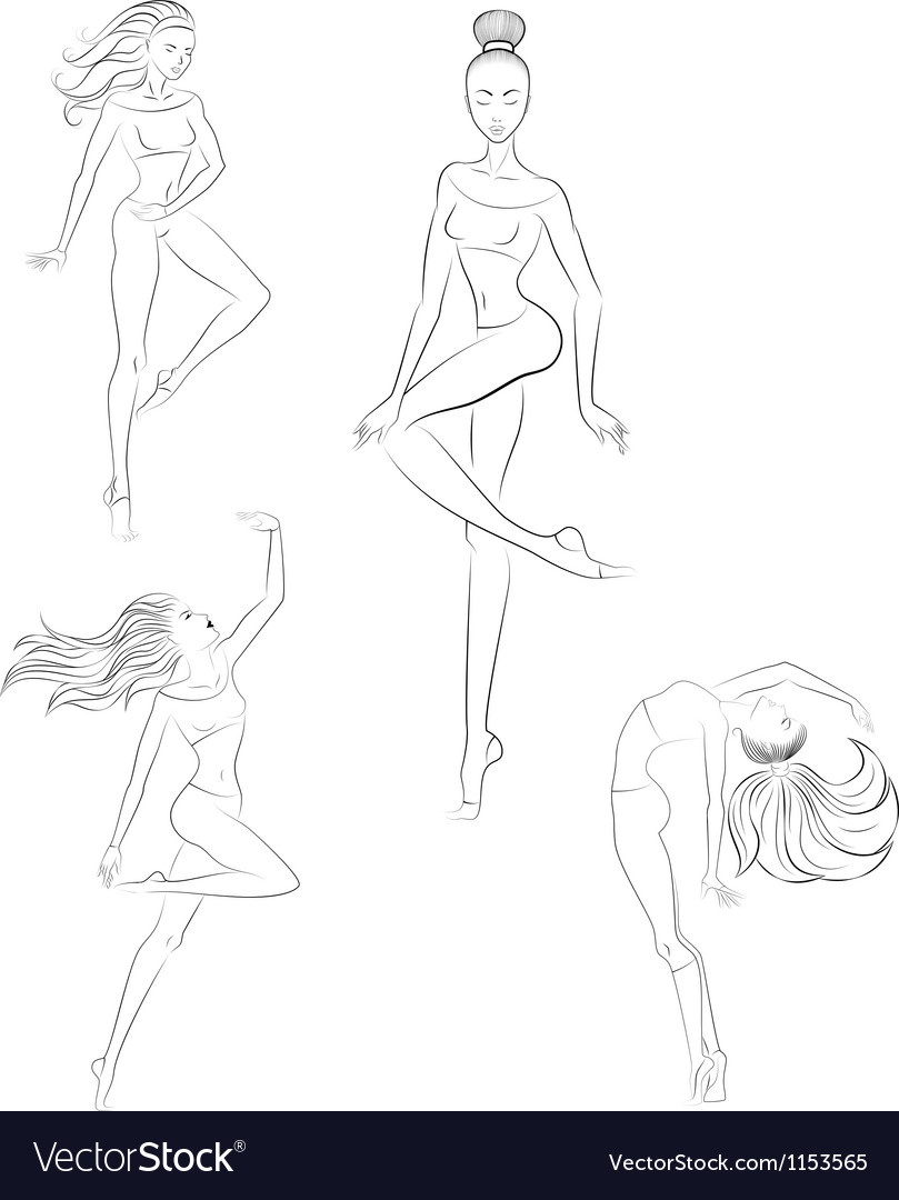 Contemporary dance vector image