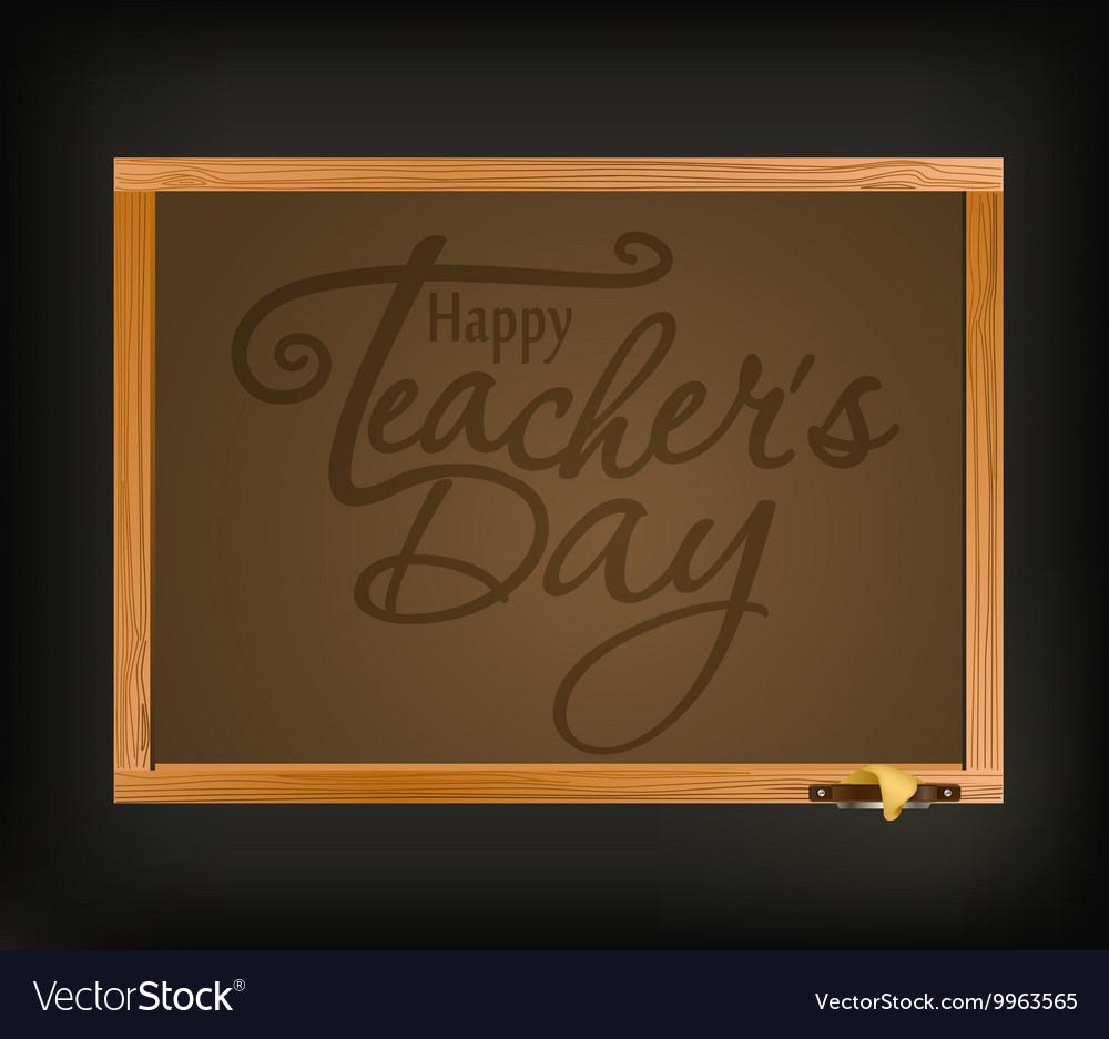 Happy teachers day greeting card teachers day vector image m4hsunfo