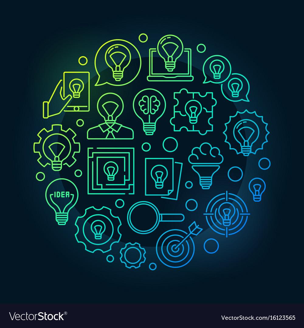 Idea circular bright vector image
