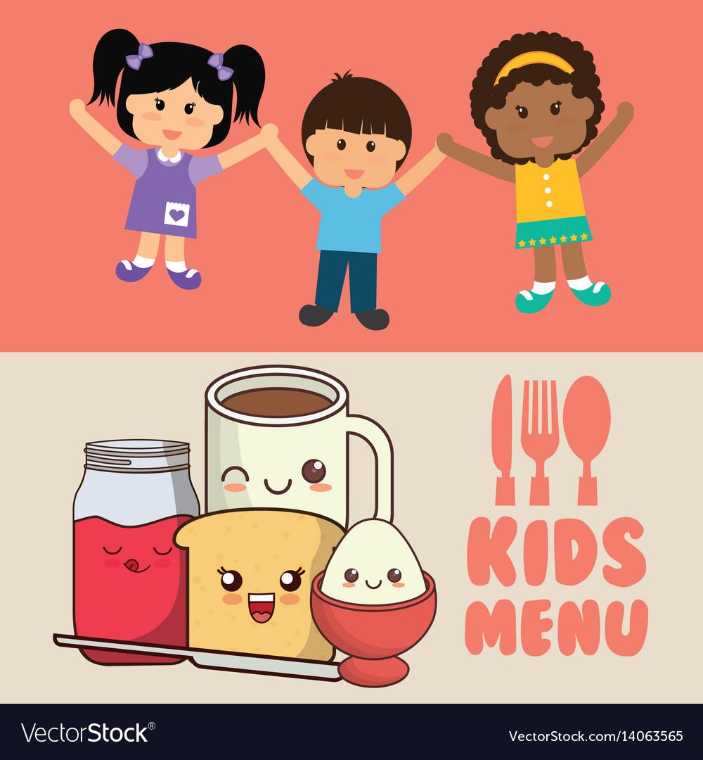 Kids menu diet meal healthy