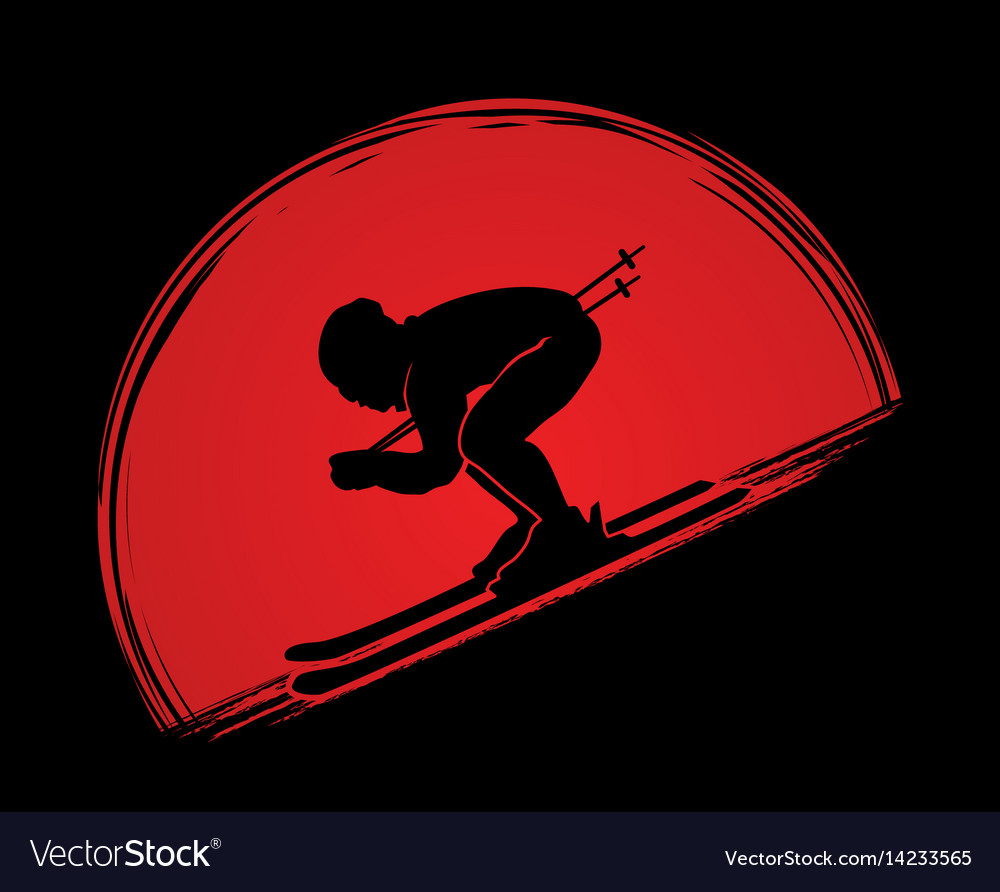 Skier action graphic