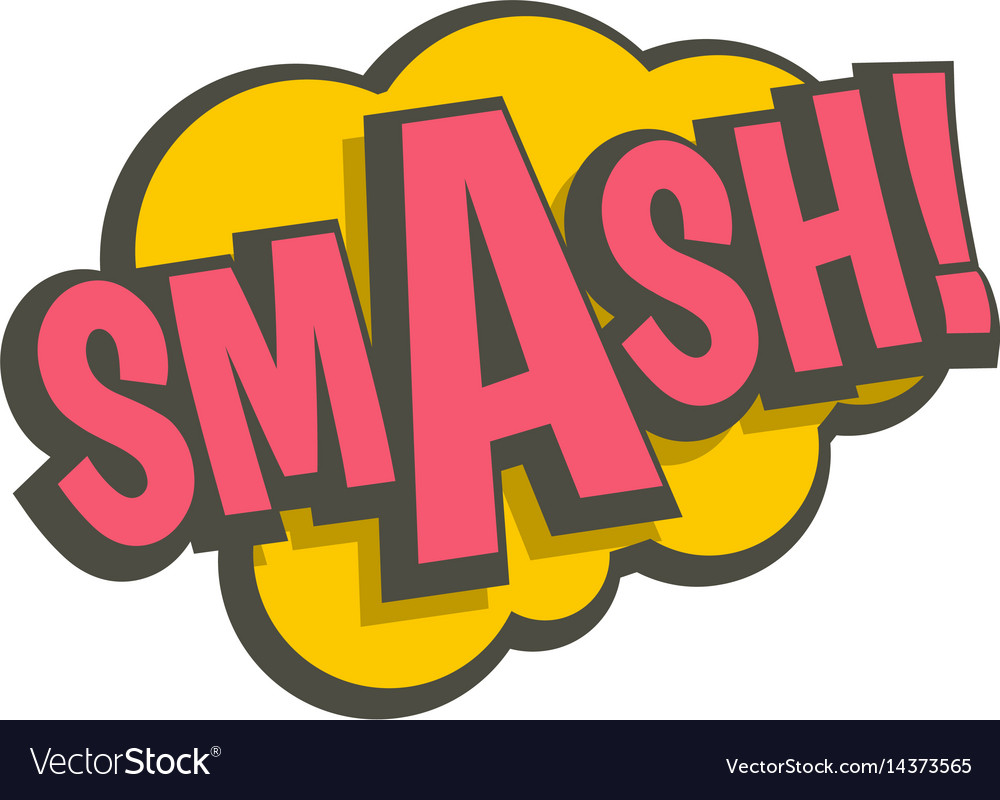 Smash comic text sound effect icon isolated