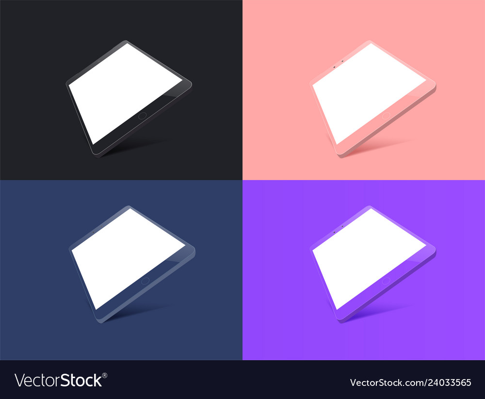 Tablet mockup in fashionable colors