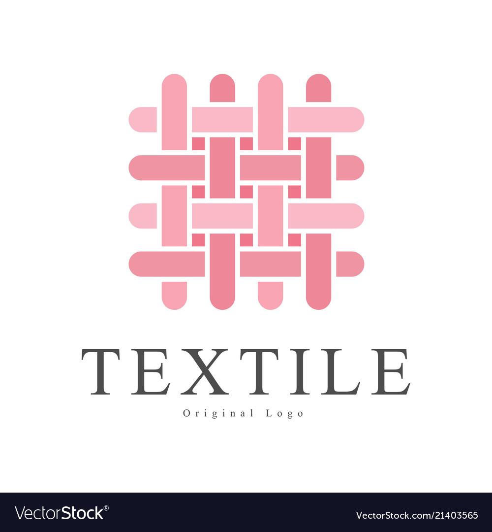 Textile original logo design creative sign for