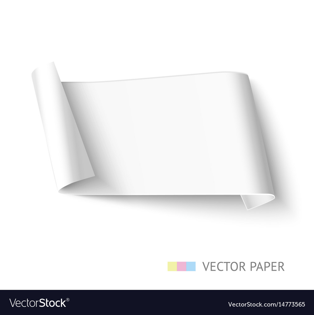 White paper roll long design for web banner