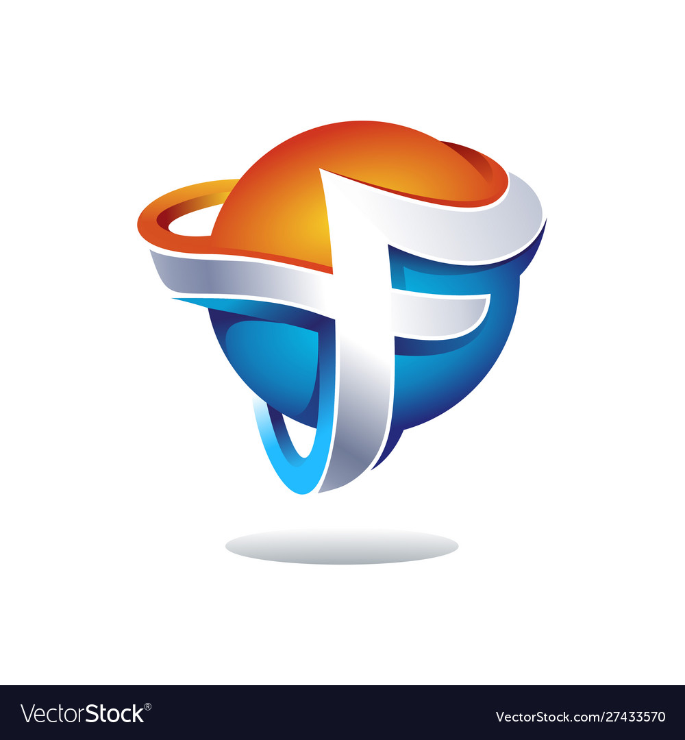 Abstarct letter f logo design inspiration