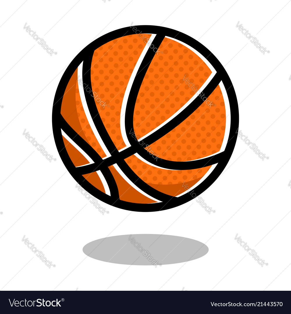 Basketball sport ball logo line 3d icon