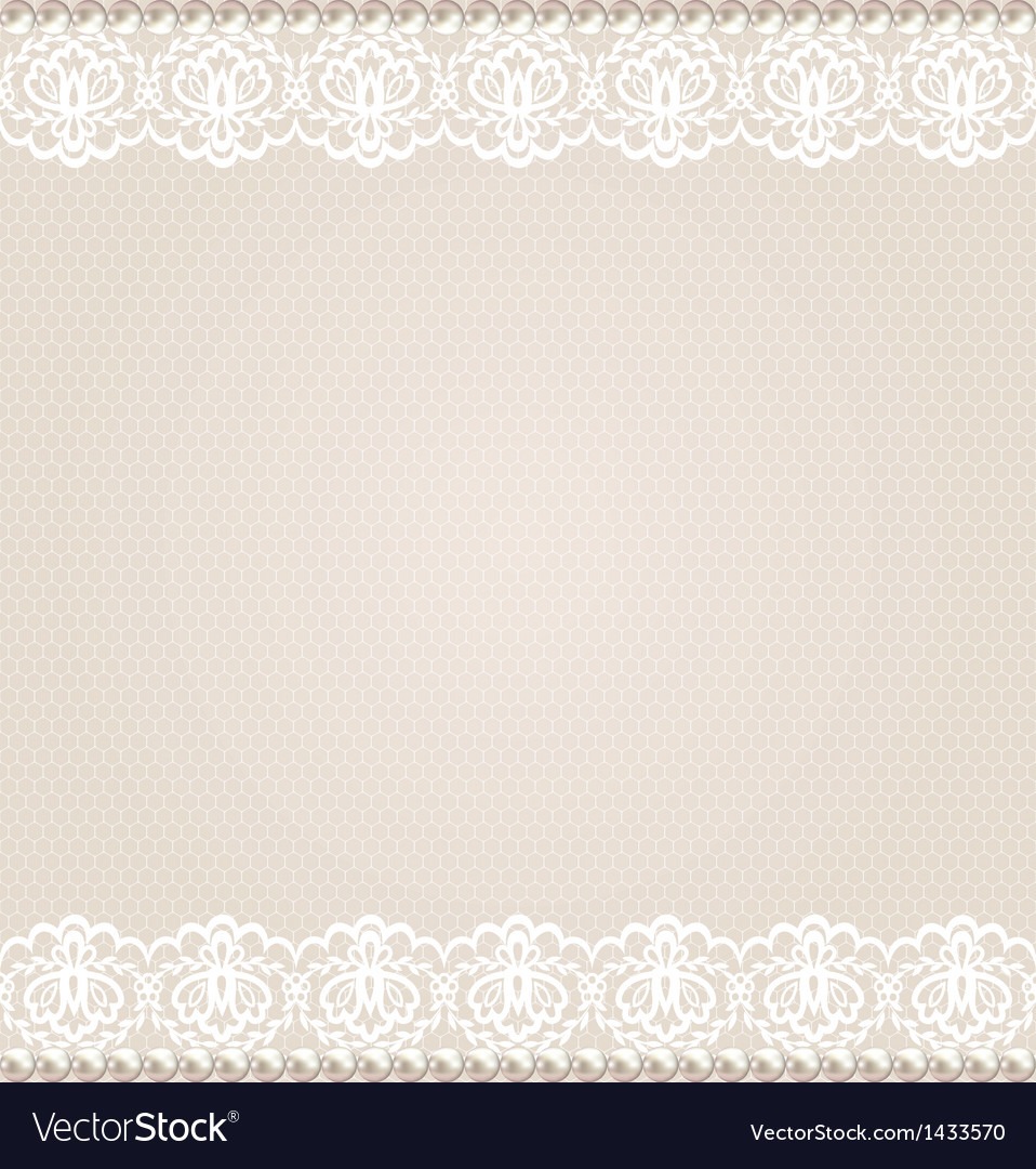 Card with lace floral border