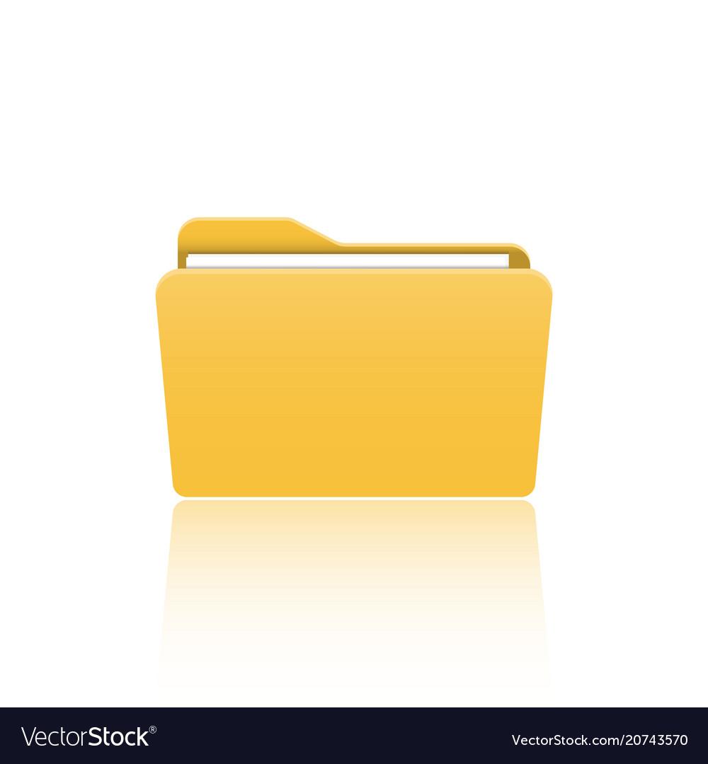 Folder icon flat design graphic folder