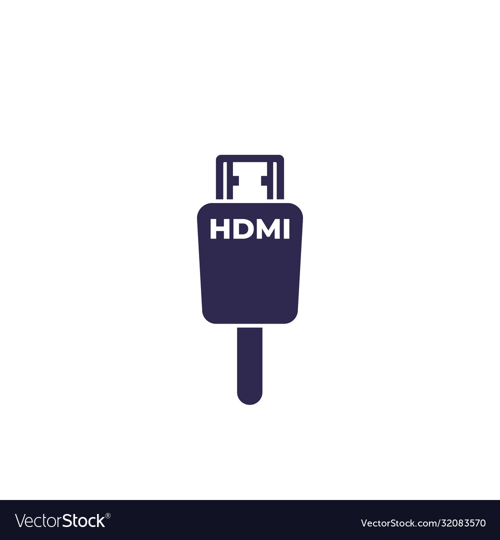 hdmi cable icon on white royalty free vector image vectorstock