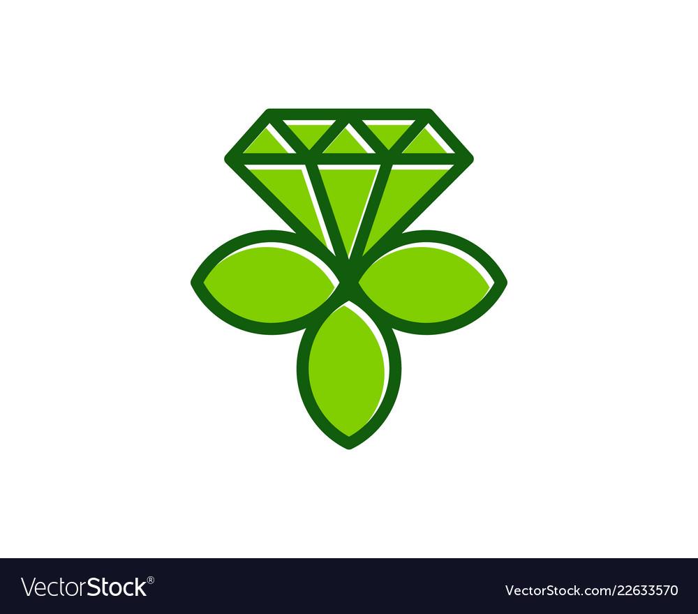 Nature diamond logo icon design