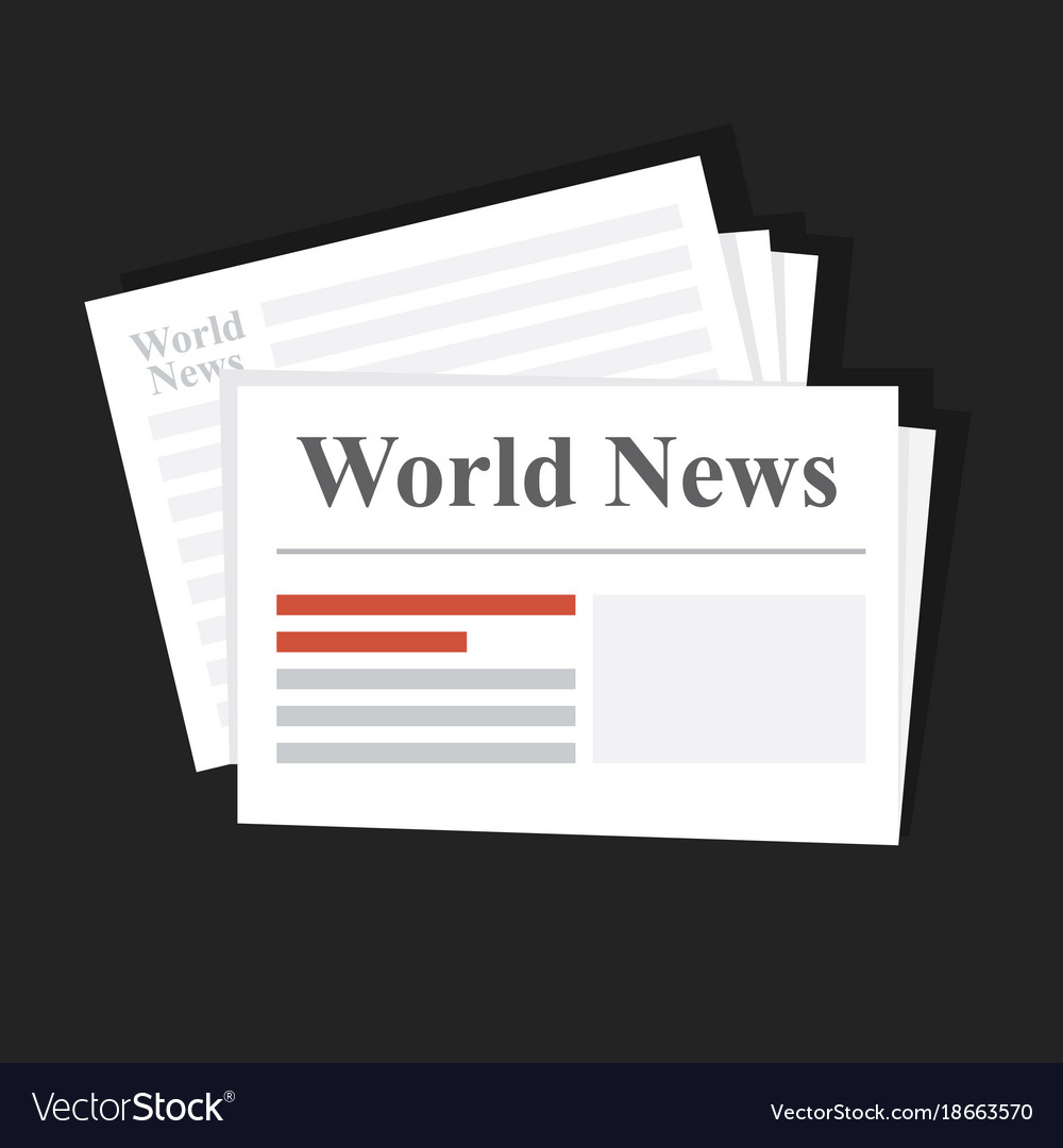 Stack of news newspapers world news daily or