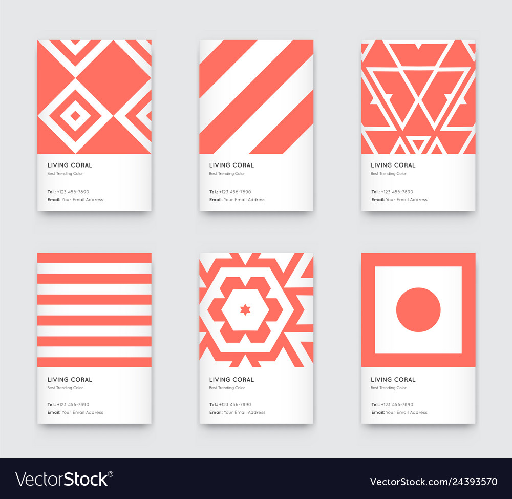 Trendy color coral minimal graphic trendy