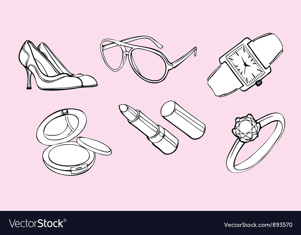 Woman style design elements vector image