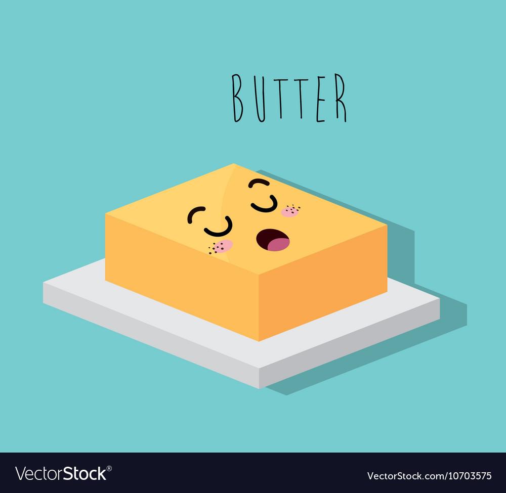 Cartoon butter dessert design isolated