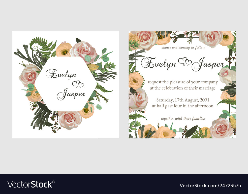 Stylish coral watercolor and flowers design