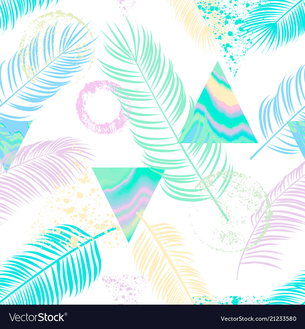 Abstract seamless pattern with palm lea