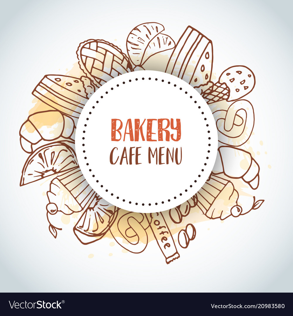 Bakery cafe menu text background sweet pastry