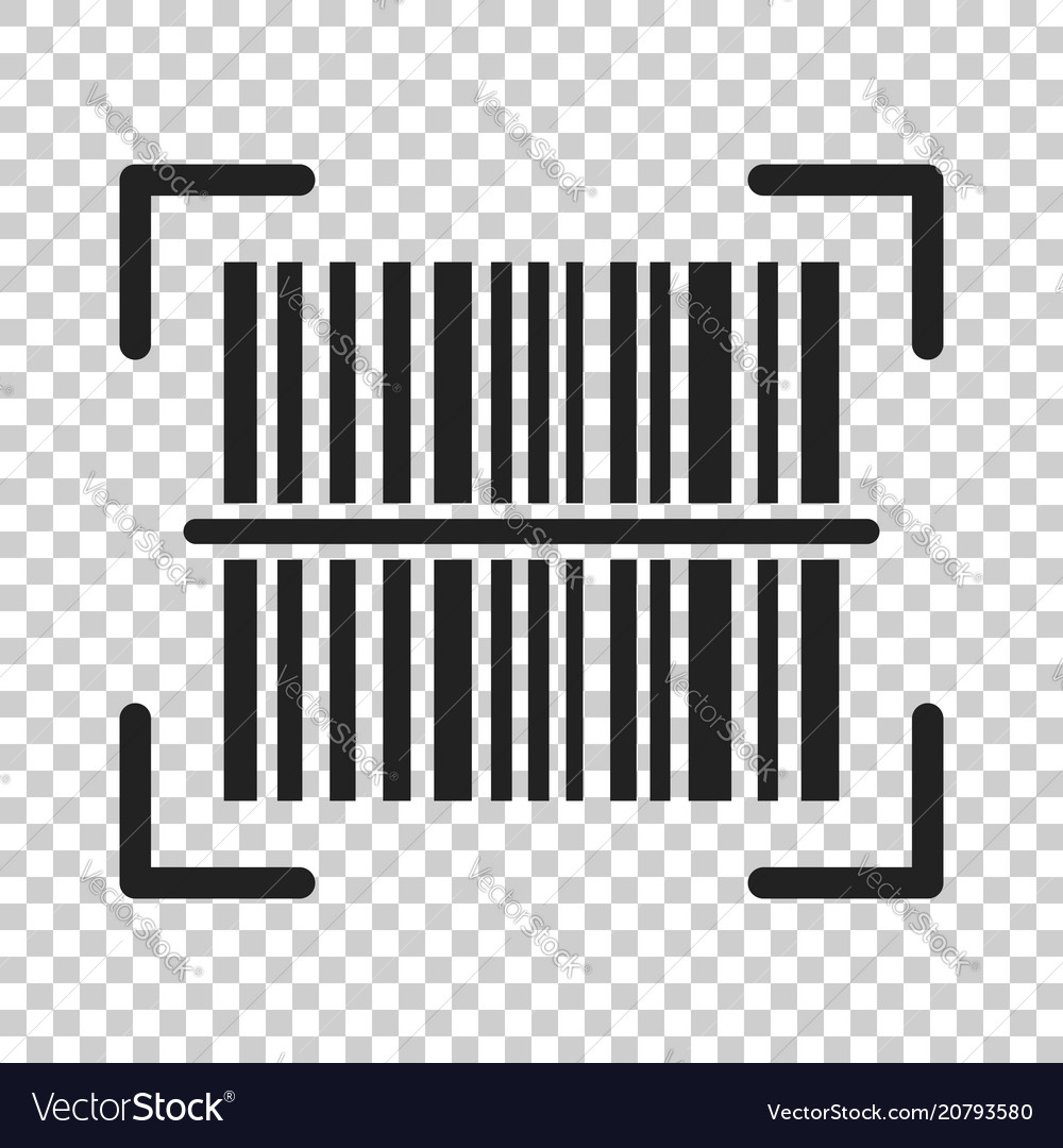 Barcode product distribution icon on isolated
