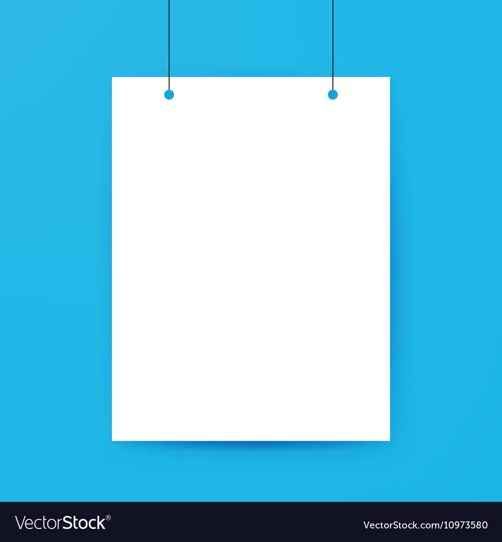 blank poster template royalty free vector image