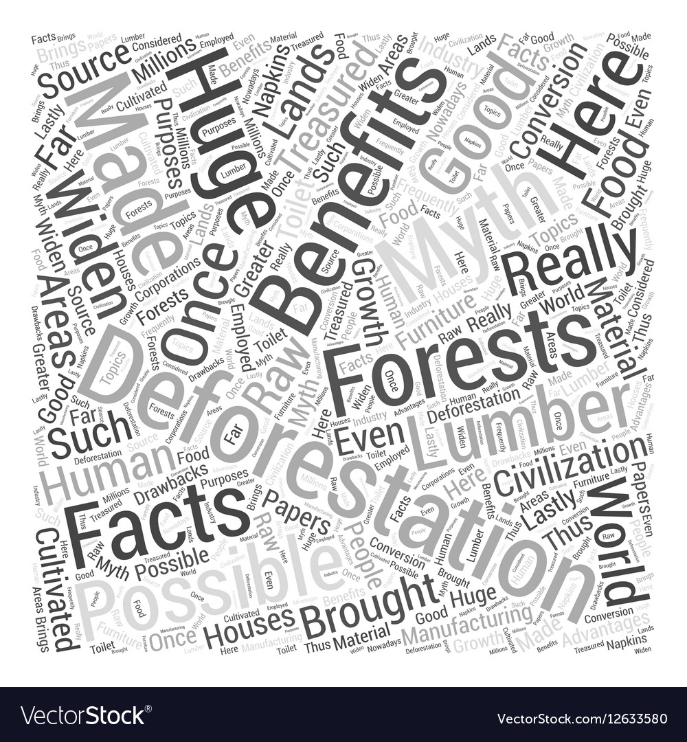 Deforestation Facts And Myths Word Cloud Concept