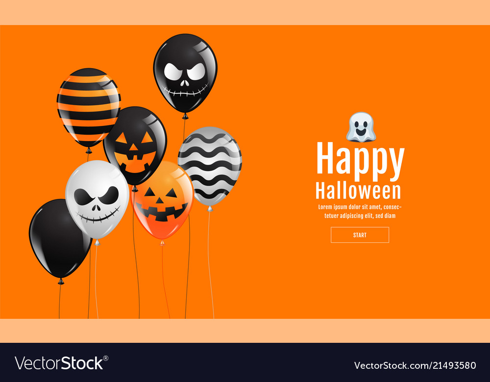 Halloween banner ghost scary spooky air