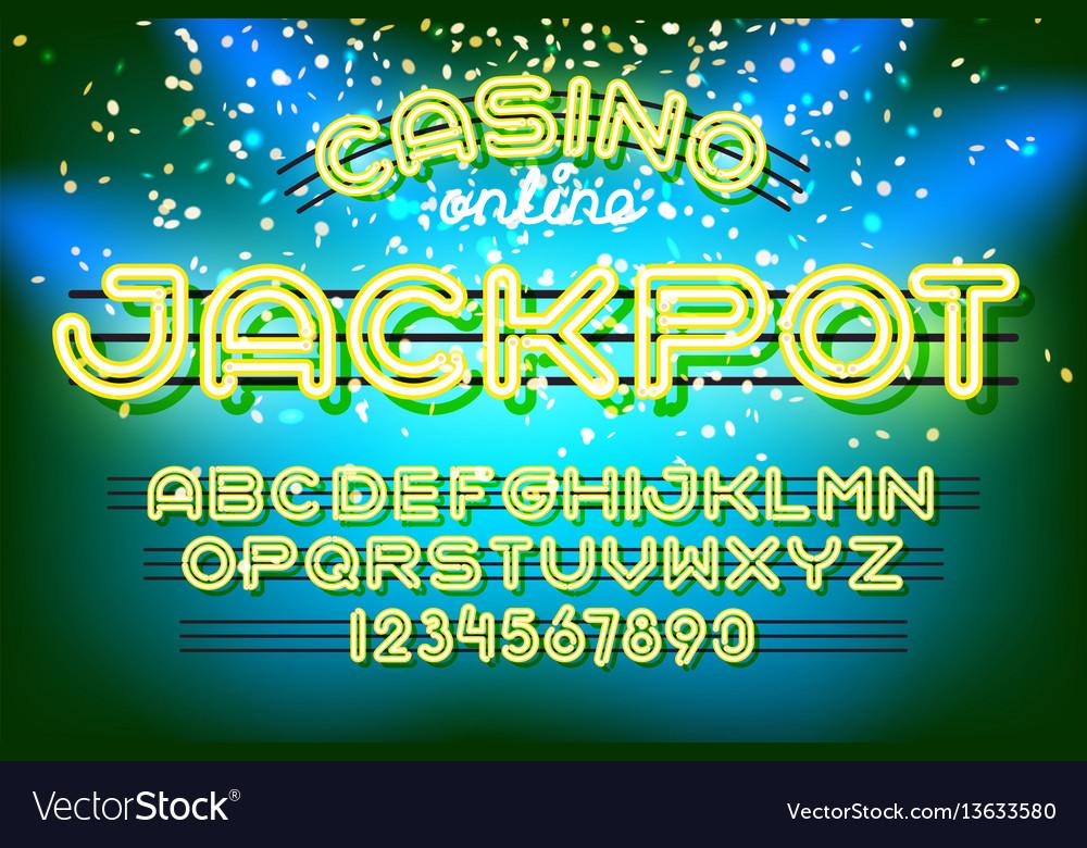 Jackpot casino neon font
