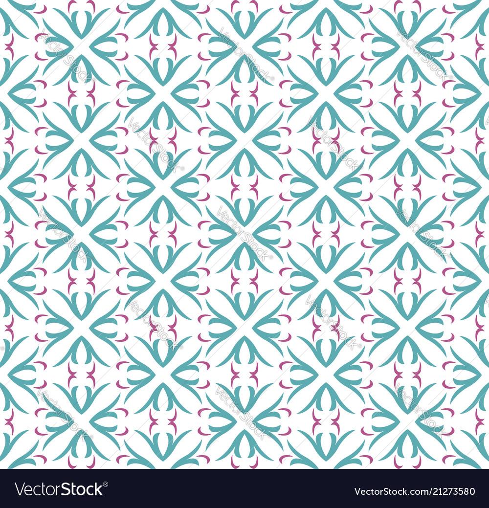 Seamless abstract floral pattern symmetry modern