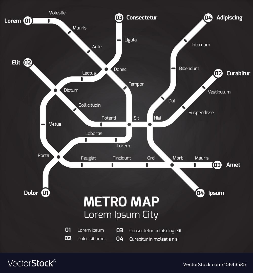 City Subway Map.City Subway Map Metro Map Concept