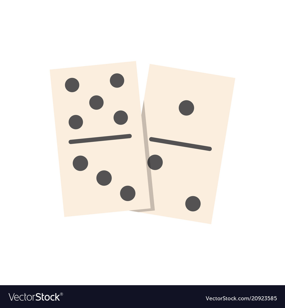 Dominoes flat isolated