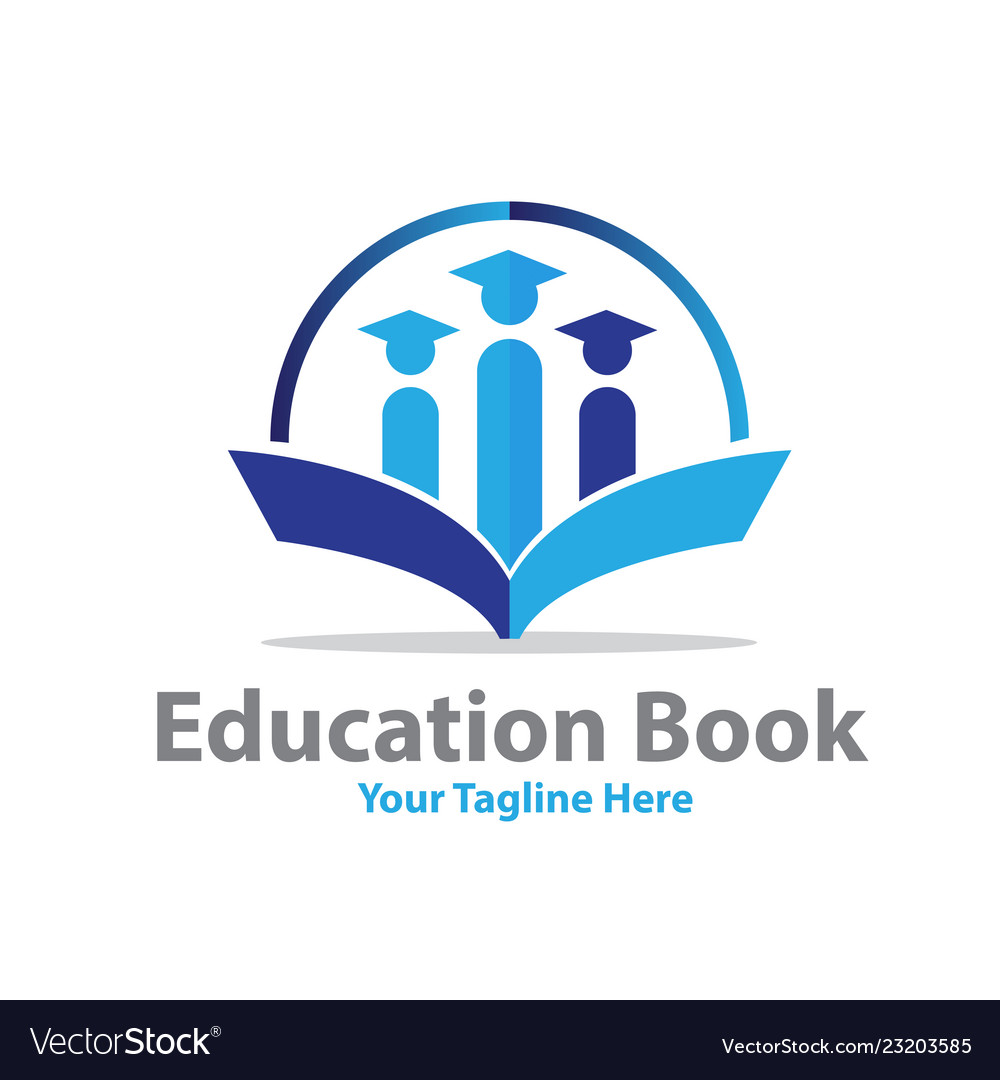 Education book logo designs