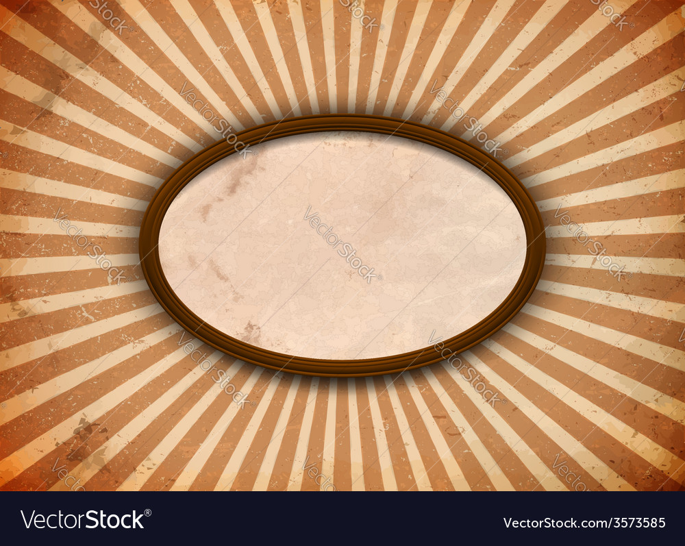 Ellipse frame with rays