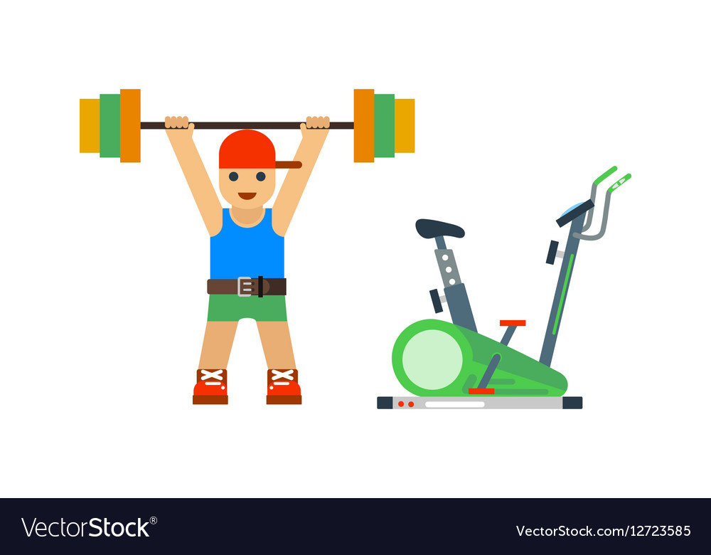 Fitness gym sport people icon