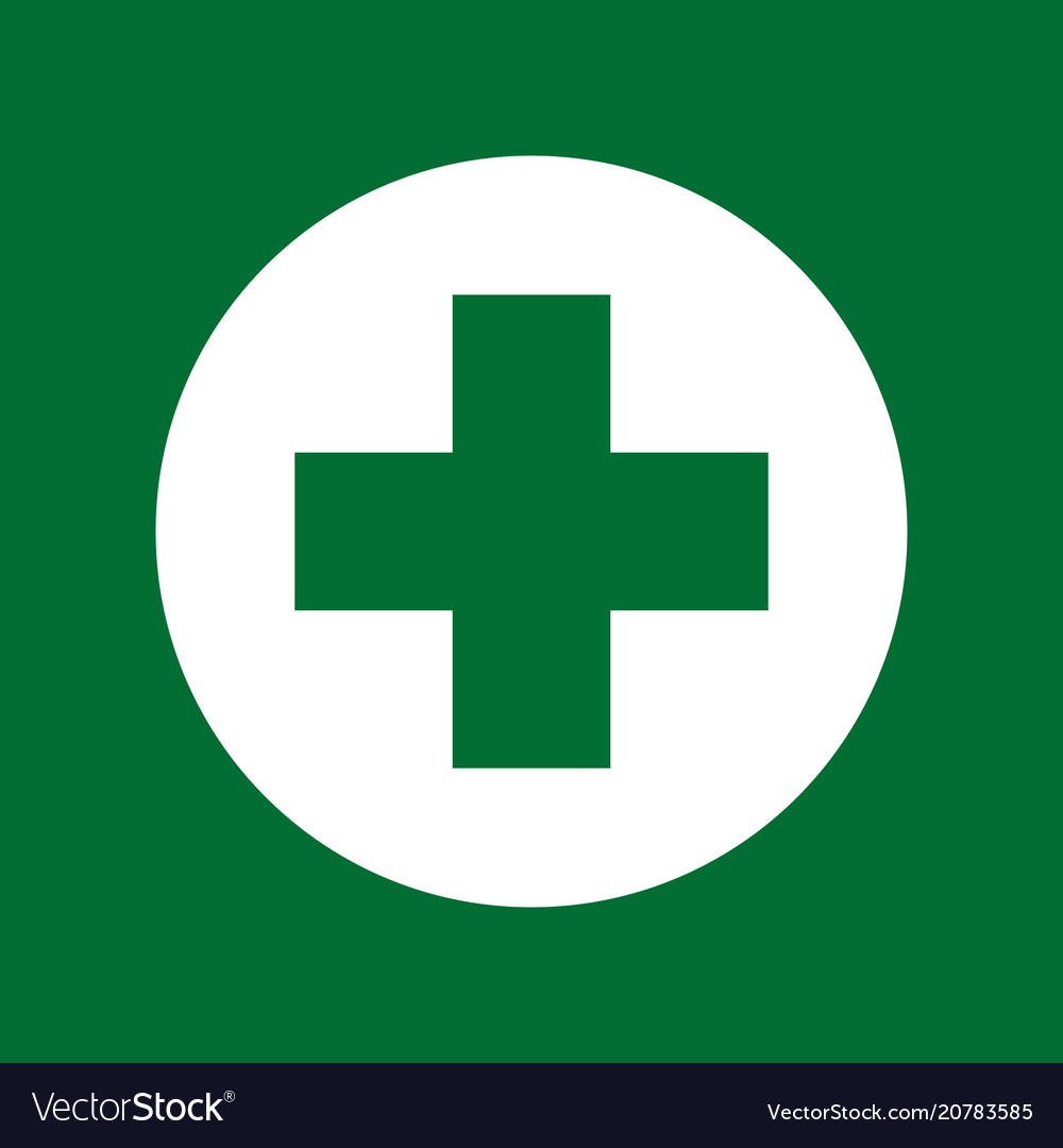 green cross medical symbol royalty free vector image