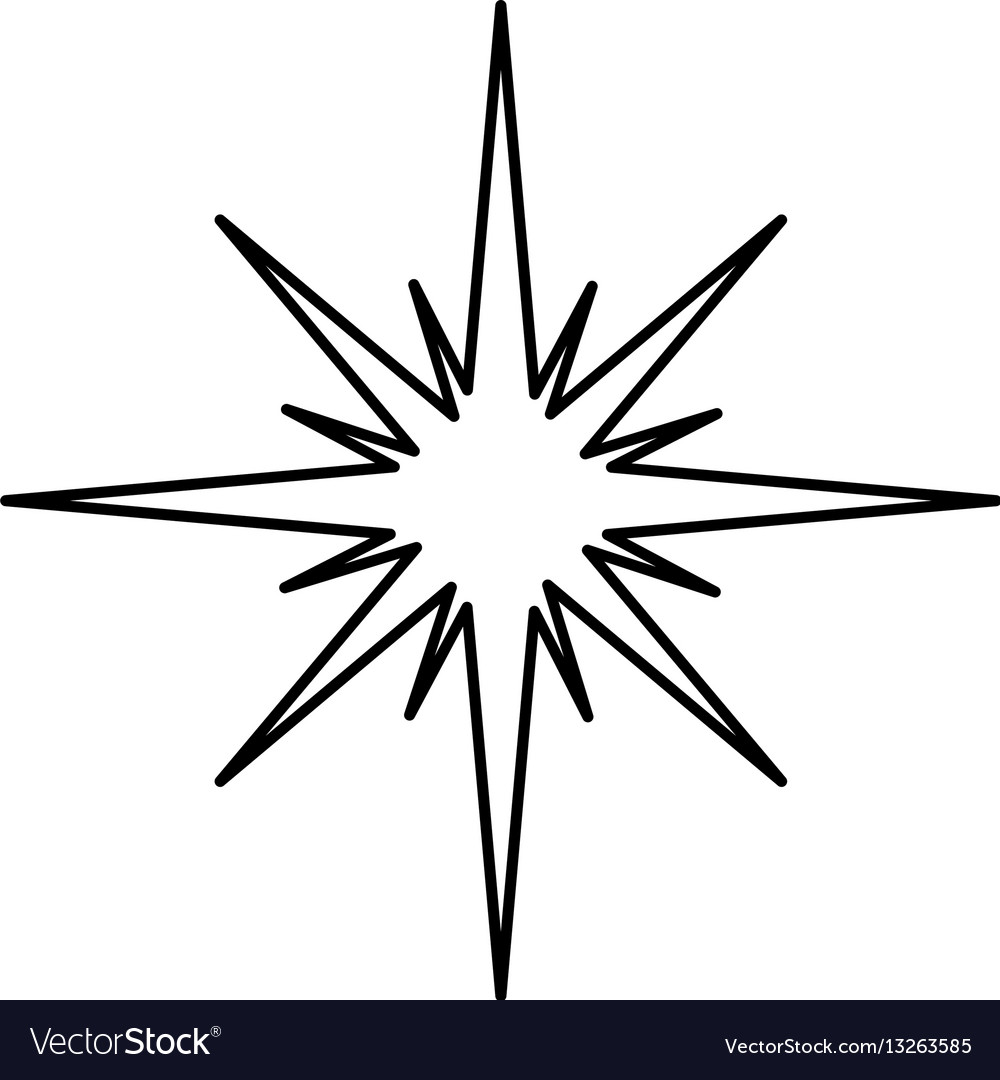 Christmas Star Silhouette.Manger Star Silhouette Isolated Icon