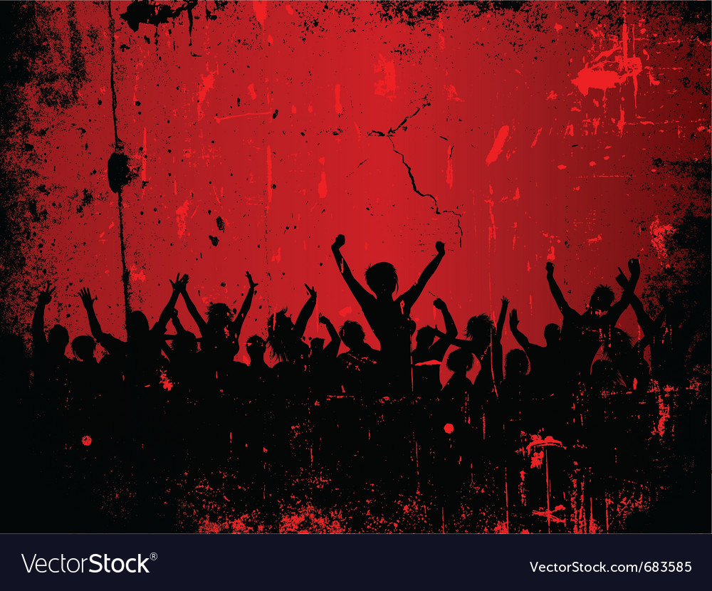 Party grunge vector image