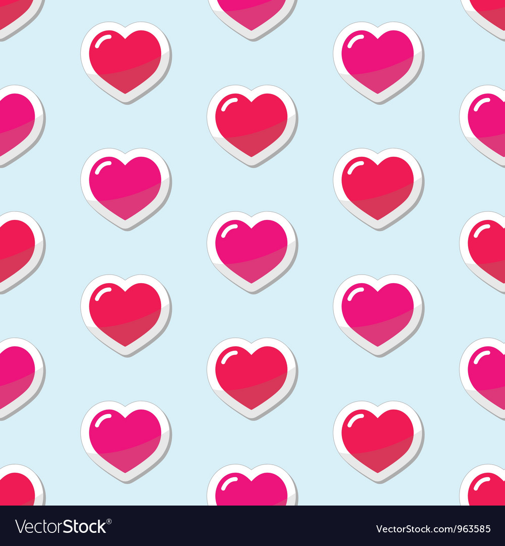 Seamless Heart love background pattern