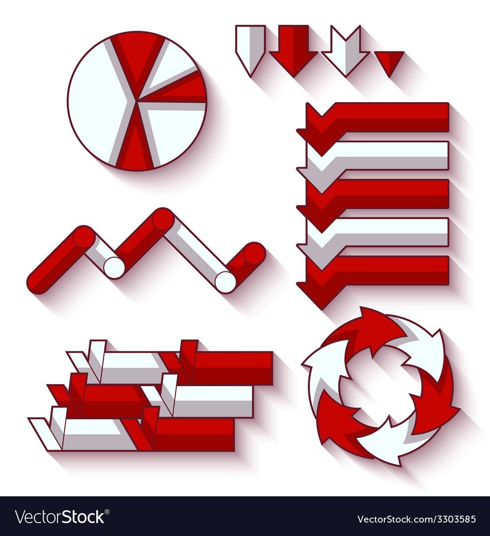 Set of arrows and diagram for infographic vector image