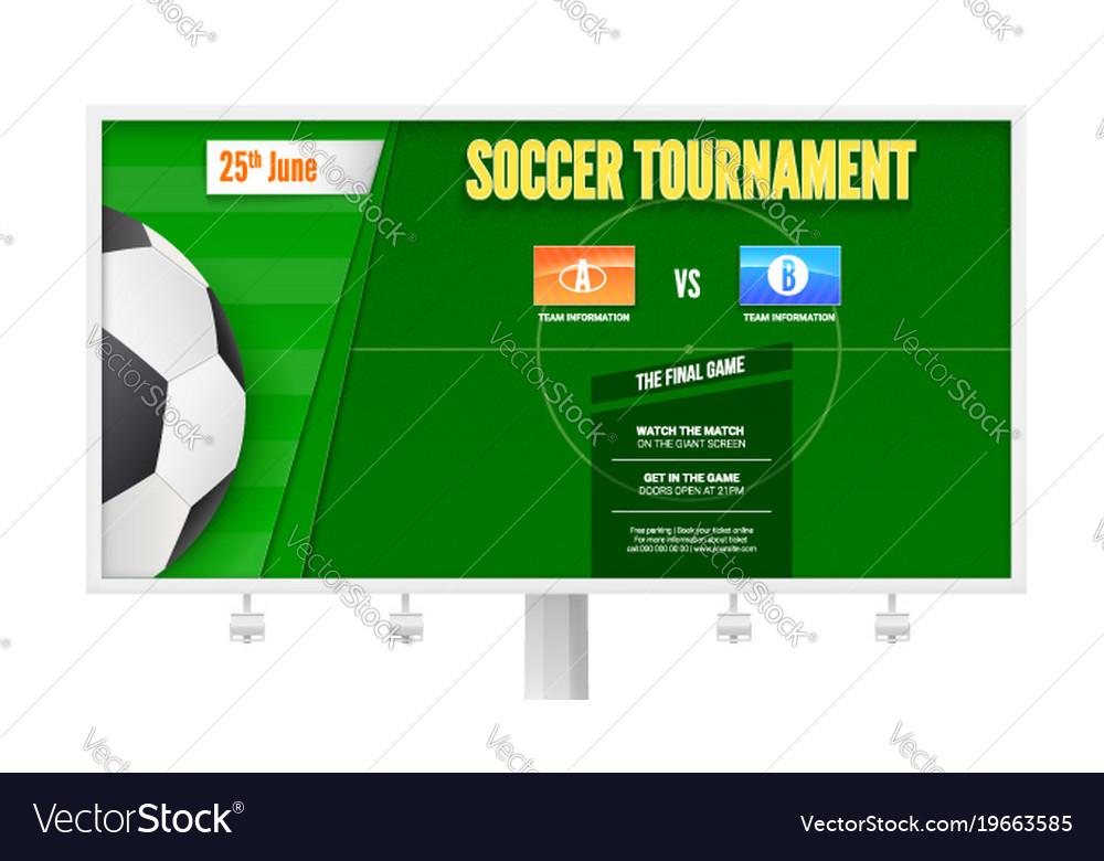 Soccer or european football tournament on